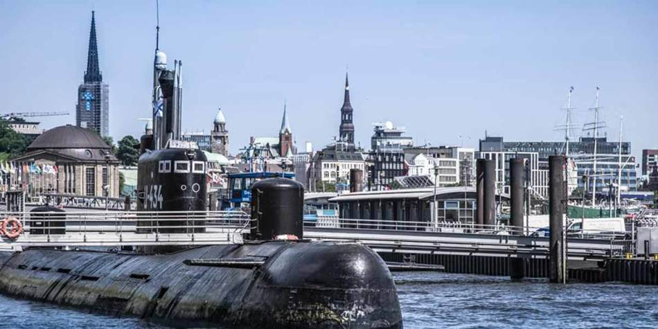 Submarine musuem in Hamburg