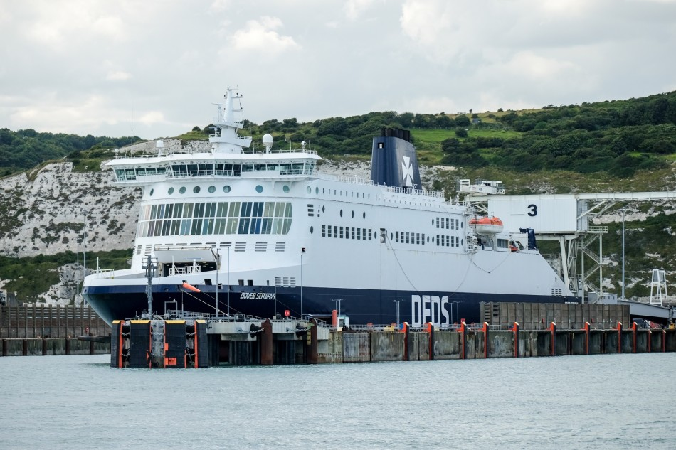DFDS vessel Dover Seaways in the terminal