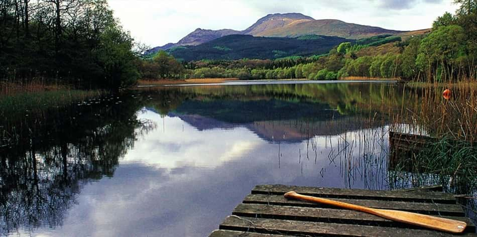 Loch lomond natural landscape