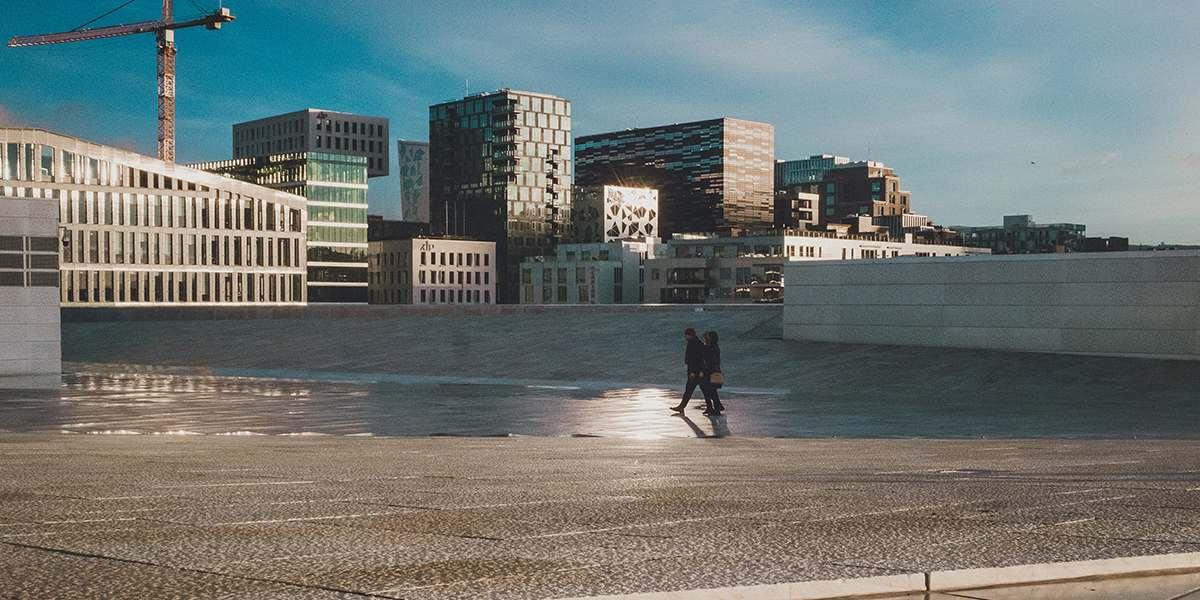 Top of the opera in Oslo
