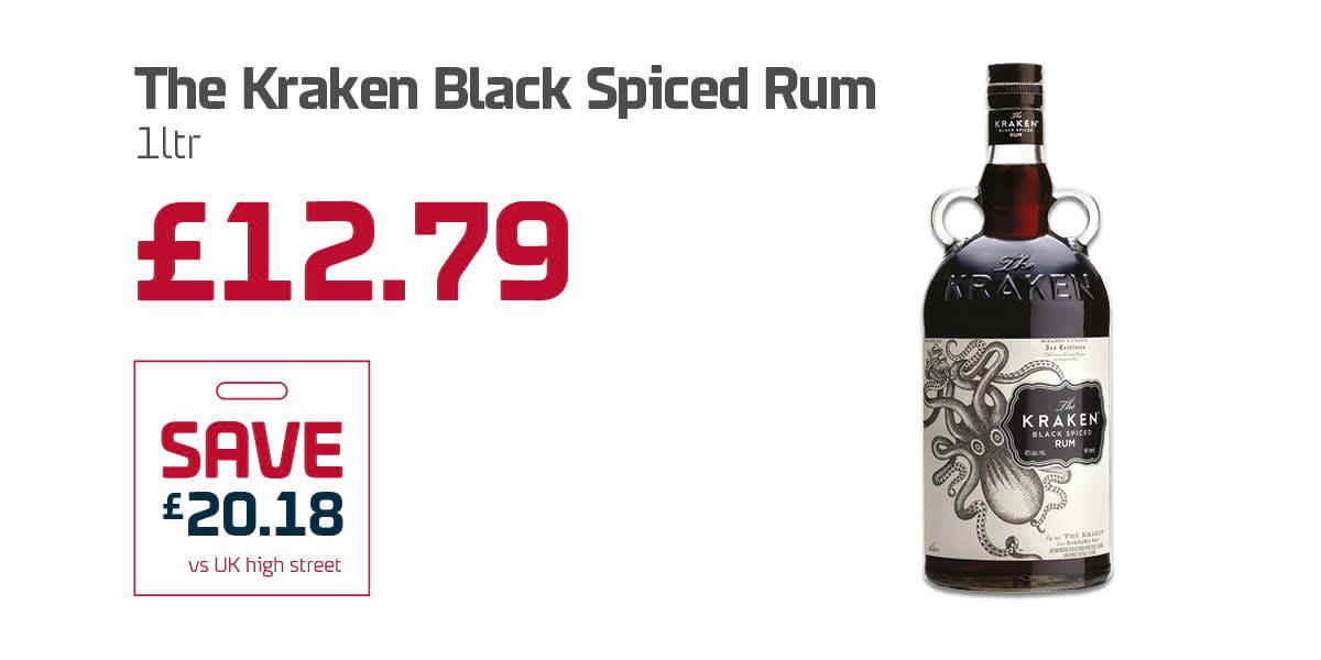 EC Duty free Q3 - The Kraken Black Spiced Rum
