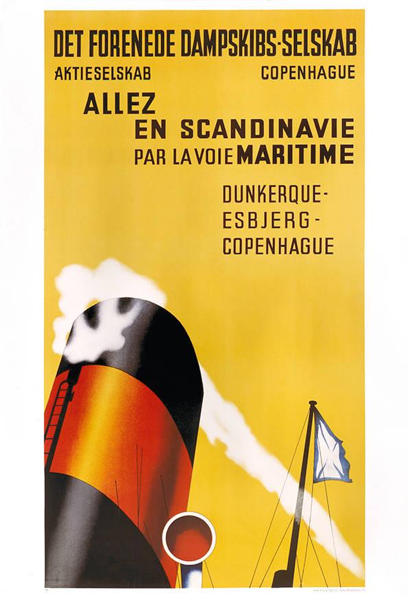 car-016 Poster tradition, Allez en Scandinavie