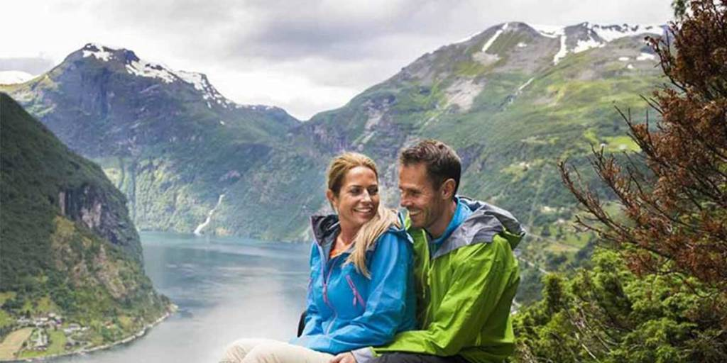 Couple at Norway mountains