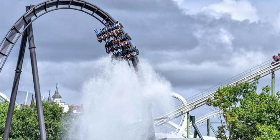 Water themed rollercoaster ride at Heide Park
