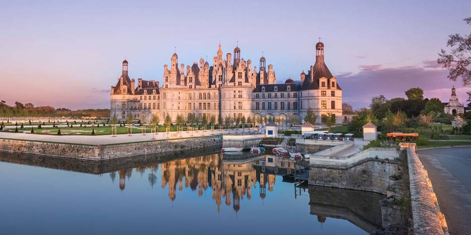 Chateau-Chambord castle in France