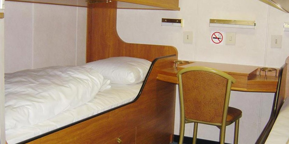 Pet friendly cabin onboard Optima Seaways ferry