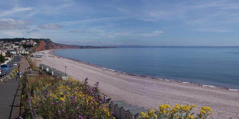 Budleigh Salterton at the Jurassic Coast