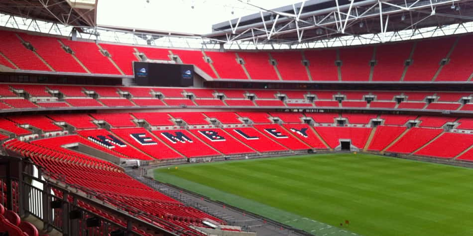 Wembley stadium in London