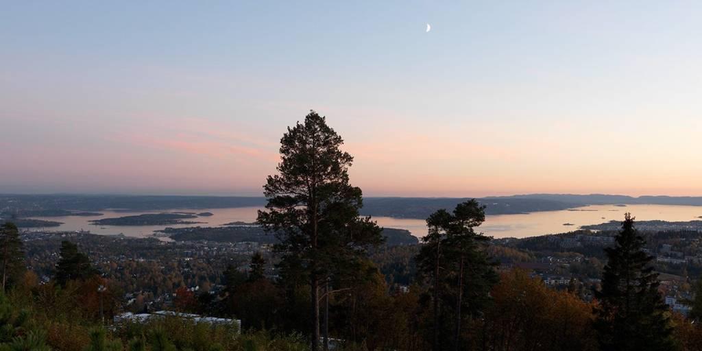 View over Oslo from Holmenkollen