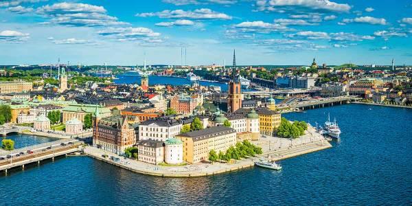 Blick auf die Stadt Stockholm