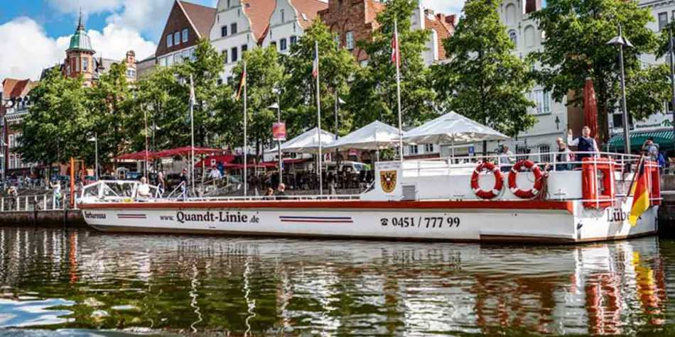 Boat on the water in Lubeck