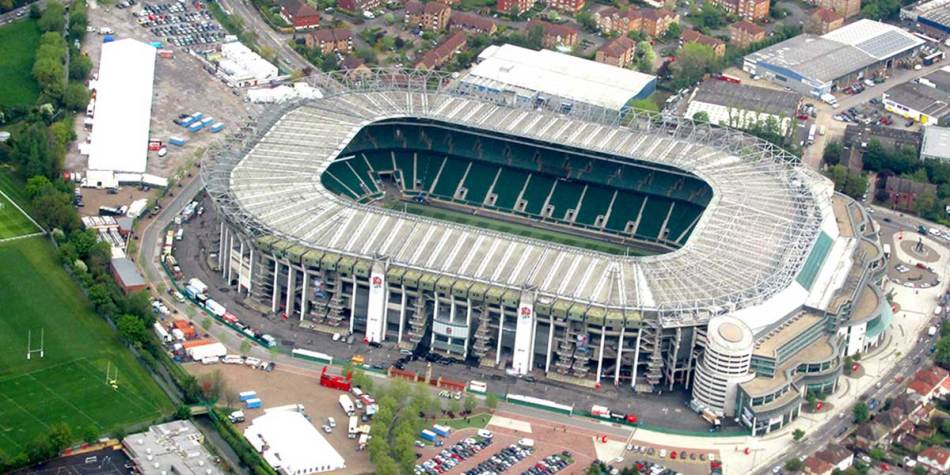Twickenham Stadium from a birds-eye view
