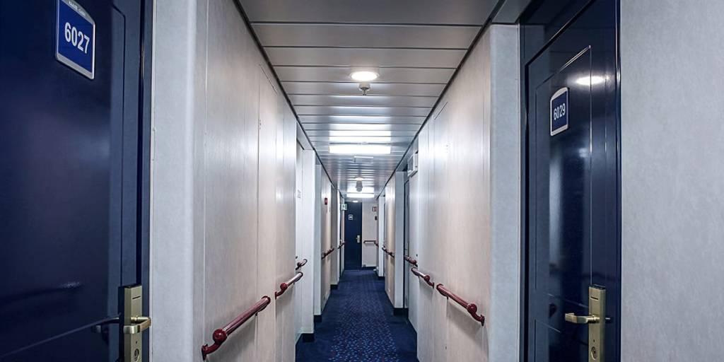 Corridor onboard Klaipeda-Kiel