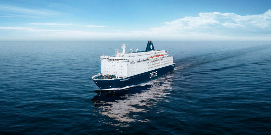 Princess Seaways ship at sea