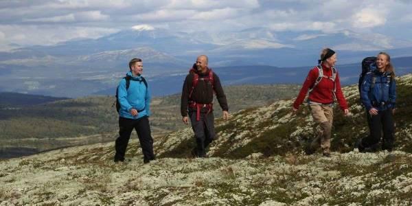 Vandring ved Skeikampen i Norge - VisitLillehammer photocredit: Ian Brodie
