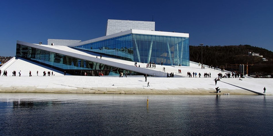 Oslo Opera view on lake