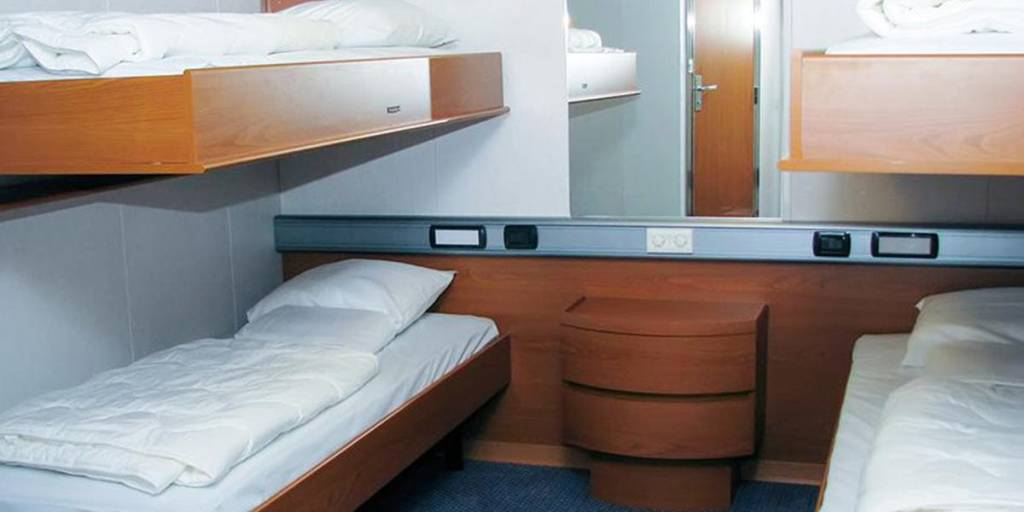 Accessible cabin onboard DFDS ferry