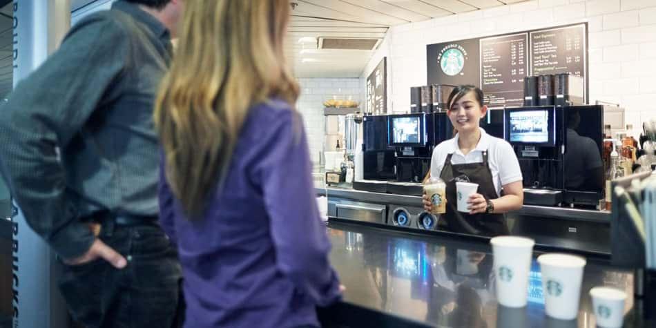 Coffee Crew Cafe onboard Amsterdam-Newcastle