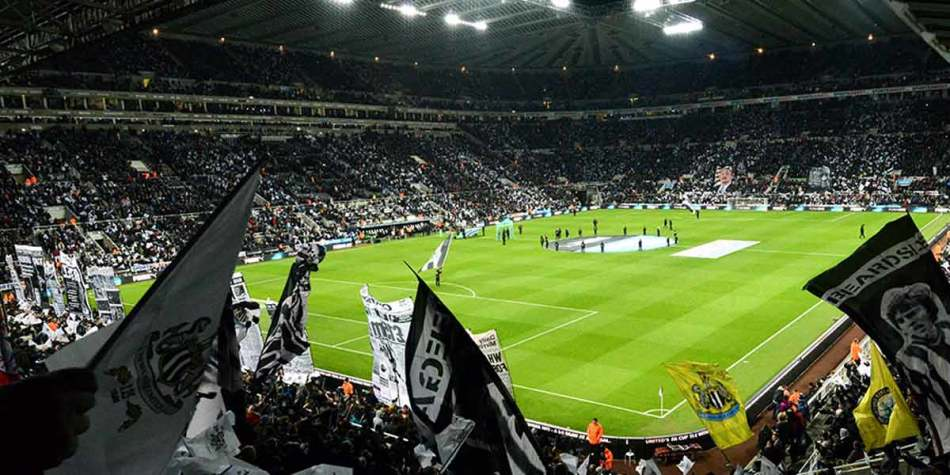 Football match at St James Park