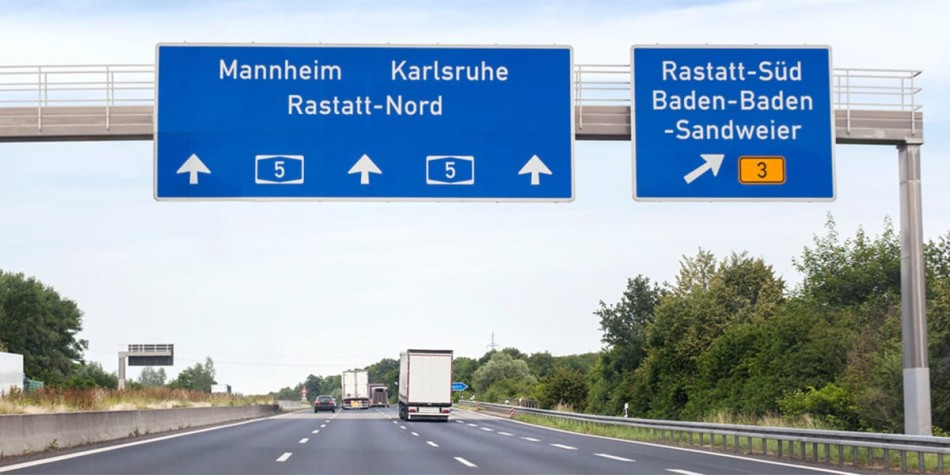Road signs in Germany