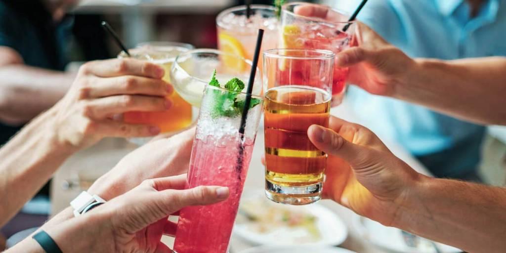 Celebration with drinks