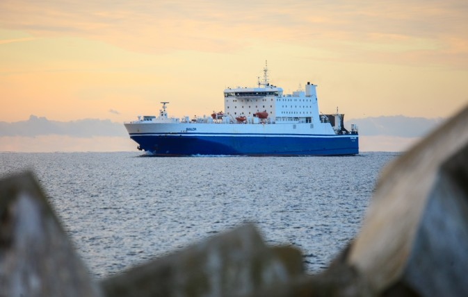 DFDS vessel, Sailor, at sea