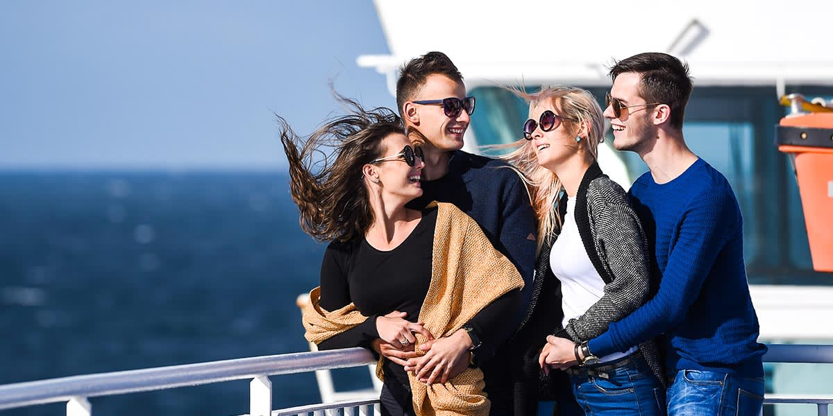 Group of friends on DFDS ferry