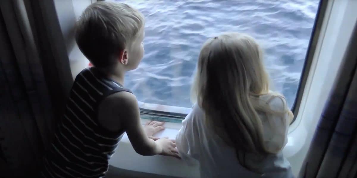 Children onboard Copenhagen Oslo