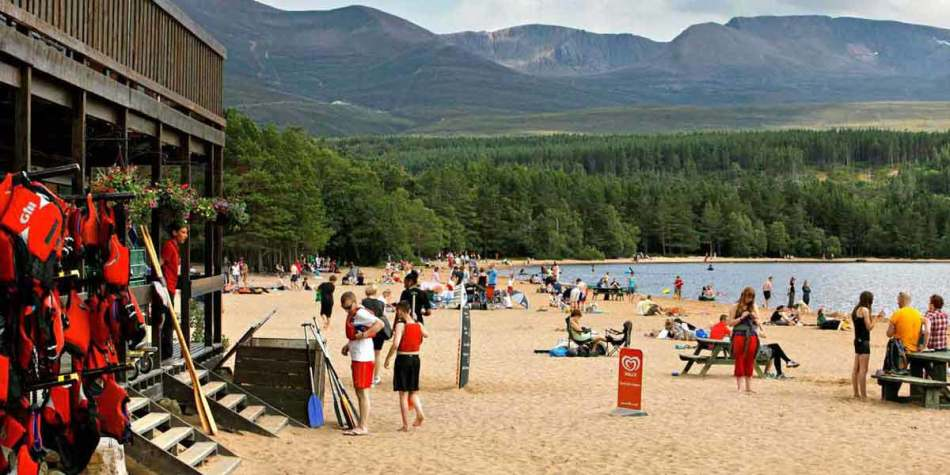 Beach in Ballater, Scotland