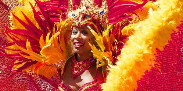 Carnival red dancer