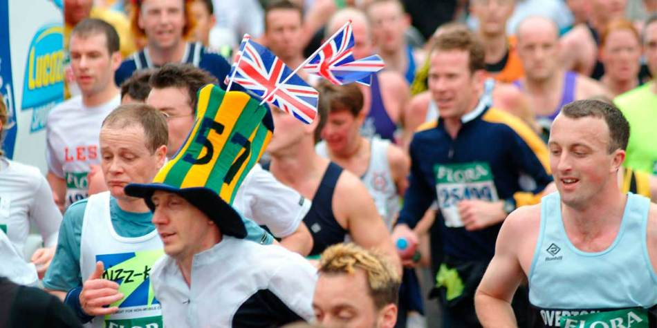Runners during annual London Marathon