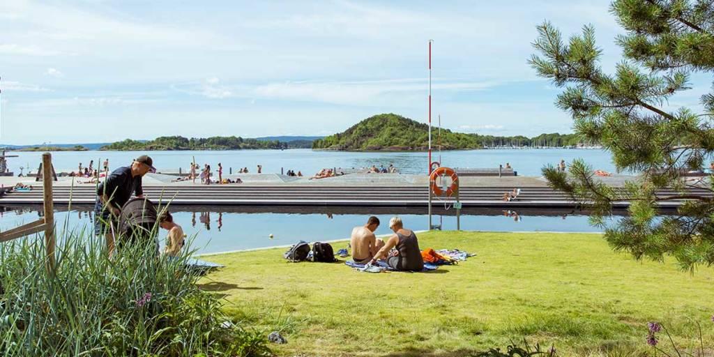 Sorenga Sjobad Oslo  - Harbour bath - Foto credit: Didrick Stenersen