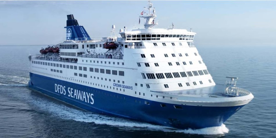 Crown seaways ship at sea