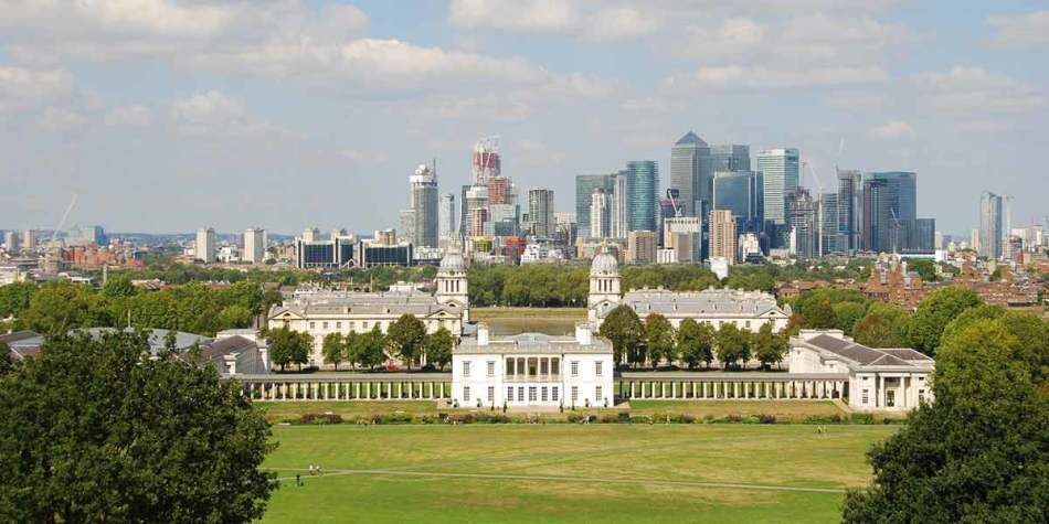 A skyline of London city