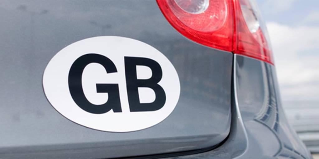 Driving in Belgium - GB sticker