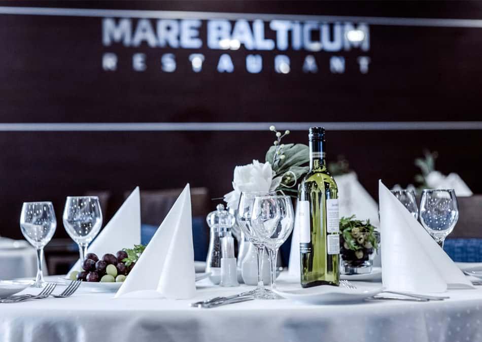 Mare Balticum restaurant onboard Klaipeda-Kiel