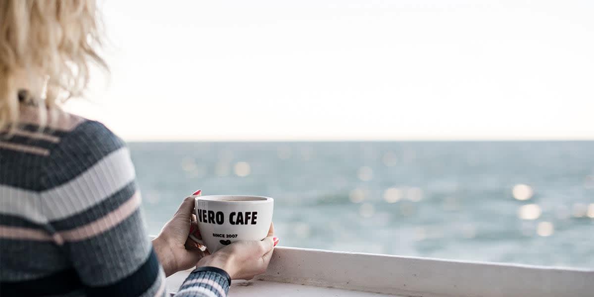 Vero Cafe on deck - Athena ferry