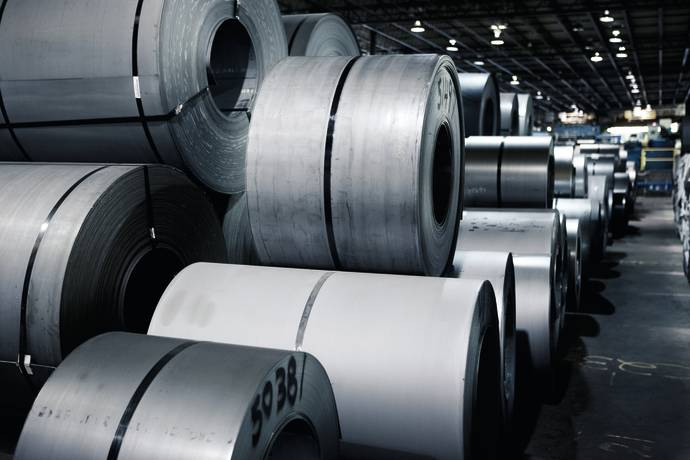 DFDS Warehouse Steel Rolls