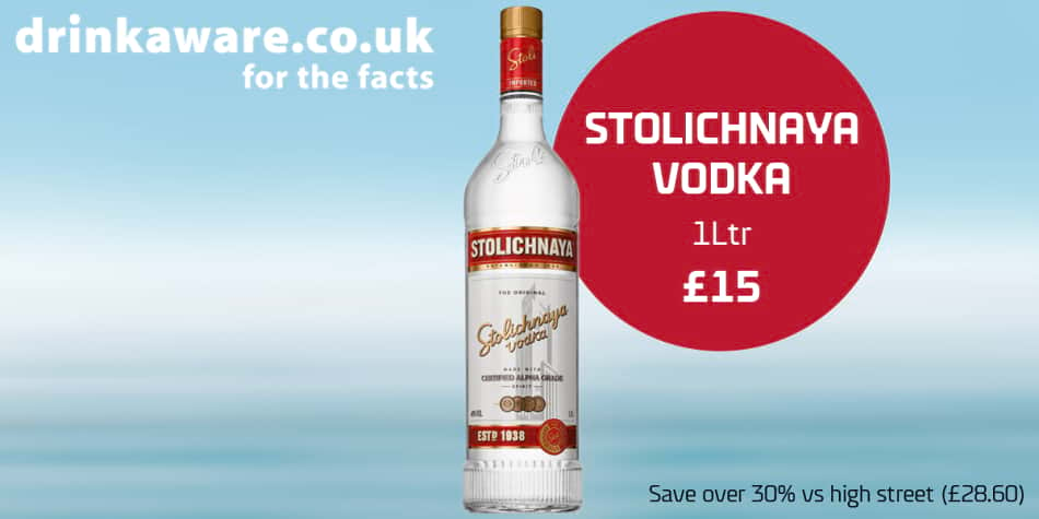 Shop offers Dover-Dunkirk and Calais Vodka