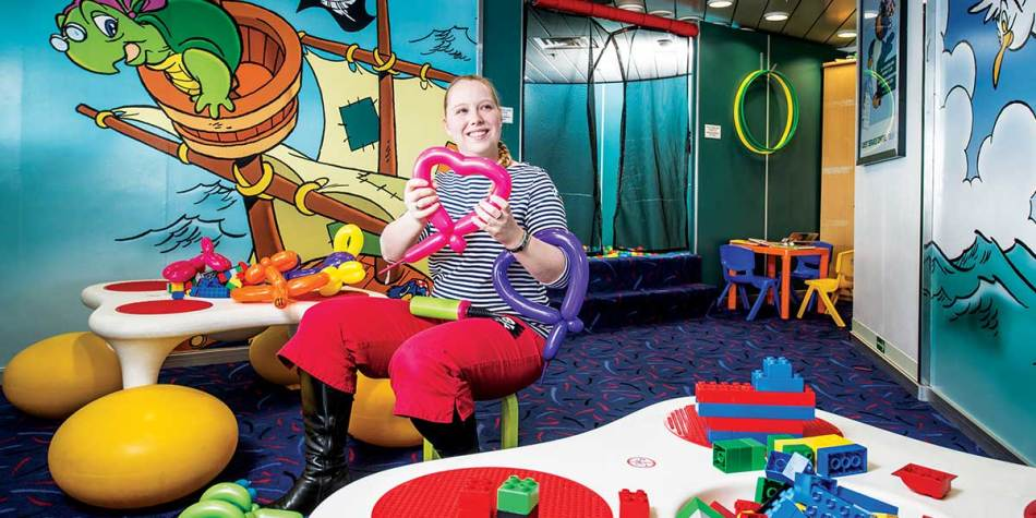 Childrens entertainer onboard Newcastle-Amsterdam route