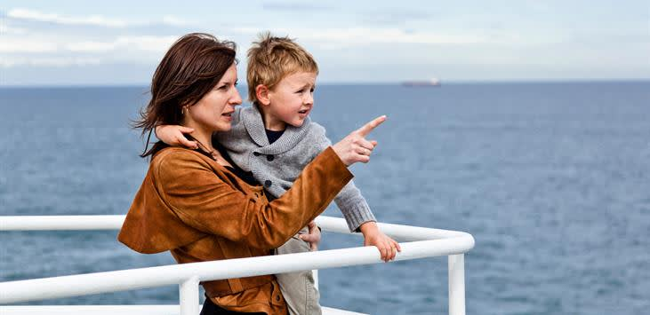 Family onboard DFDS ferry