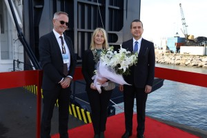 Peder Gellert Pedersen - Eva Lundstedt - Selçuk Boztepe at the naming ceremony in Istanbul March 2019