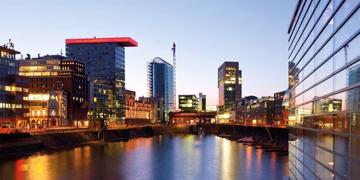 Dusseldorf city lights