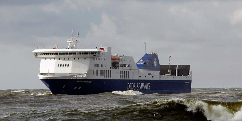DFDS Regina ferry at sea