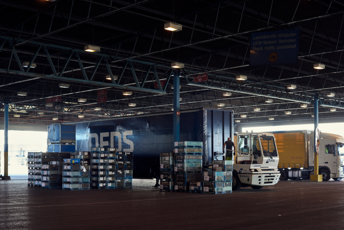 DFDS Warehouse - A DFDS truck