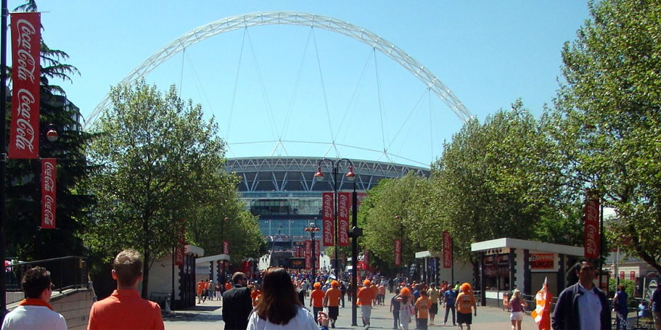 View on Wembley bridge