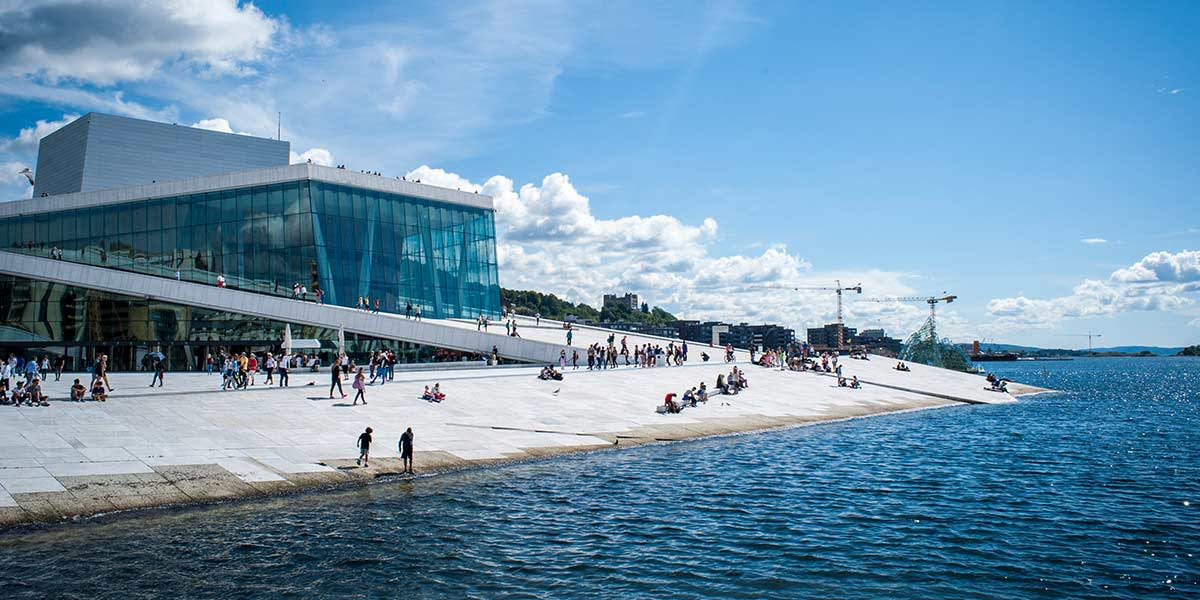 At the opera house in Oslo - Foto credit: Thomas_Johannessen