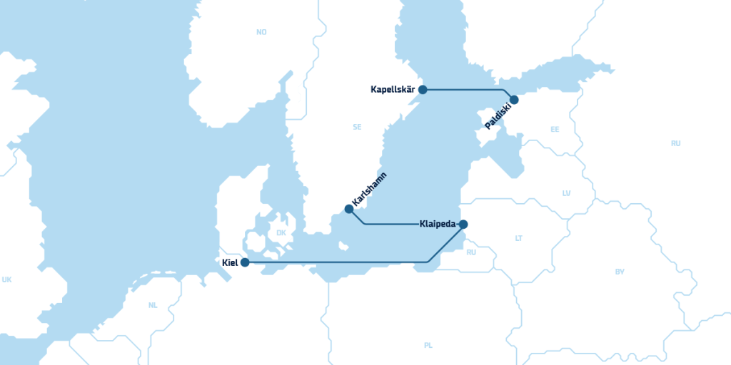 Route map Baltics