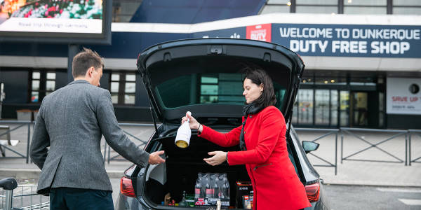 Load your car at our Duty Free Shop