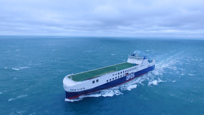 Sea trial of the new DFDS vessel